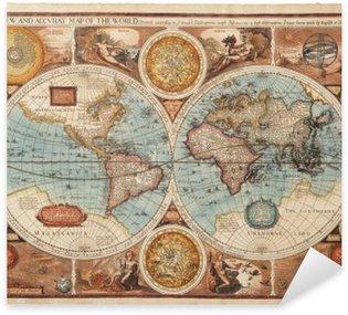Old map (1626) Sticker - Pixerstick