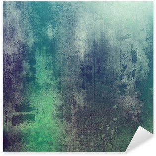 Old texture as abstract grunge background. With different color patterns: green; purple (violet); gray; cyan Sticker - Pixerstick