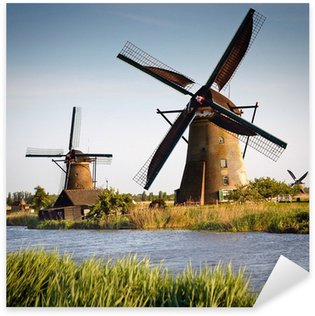 Old windmills at Netherlands Sticker - Pixerstick