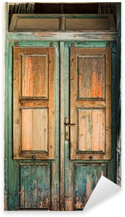 Sticker - Pixerstick Old wooden door