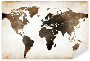 Old world map Sticker - Pixerstick