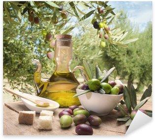 Pixerstick Sticker Olie en olijven