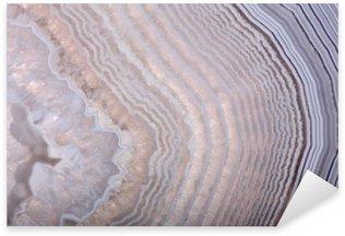 Sticker Pixerstick Ondes dans la structure agate lumière