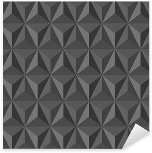 Pixerstick Sticker Ongebruikelijke vintage abstract geometrische patroon.