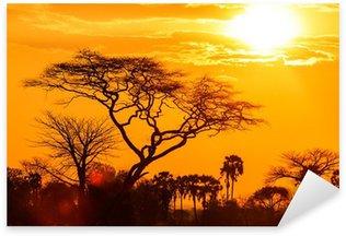 Sticker - Pixerstick Orange glow of an african sunset