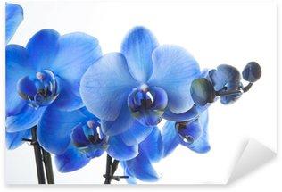 Sticker Pixerstick Orchidée bleue
