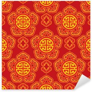 Sticker Pixerstick Oriental tuile sans couture