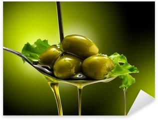 Sticker Pixerstick Orientée objet e Olive