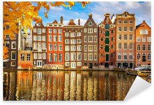 Pixerstick Sticker Oude gebouwen in Amsterdam