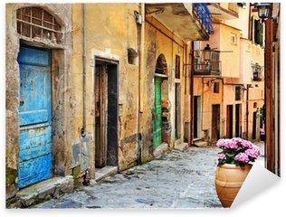 Pixerstick Sticker Oude straten van de Italiaanse dorpen