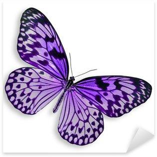 Pixerstick Sticker Paarse vliegende vlinder