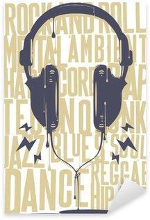 Sticker - Pixerstick Painted Headphones