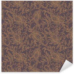 paisley fabric orient seamless pattern Pixerstick Sticker