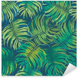 Sticker - Pixerstick Palm Leaves Tropic Seamless Vector Pattern