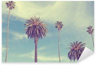 Sticker Pixerstick Palmiers sur la plage de Santa Monica.