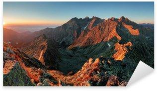 Sticker Pixerstick Panorama automne paysage de montagne
