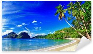 Sticker Pixerstick Panoramique paysage magnifique plage - El-Nido, Palawan