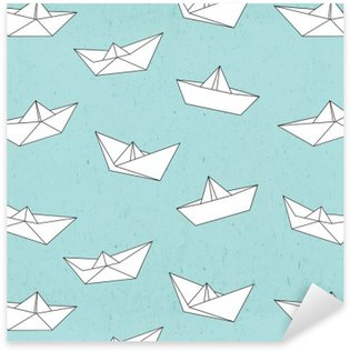 Pixerstick for All Surfaces Paper boat pattern