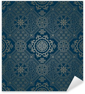 Sticker Pixerstick Papier peint de style oriental, seamless