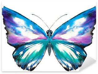 Sticker Pixerstick Papillon aquarelle peinte.