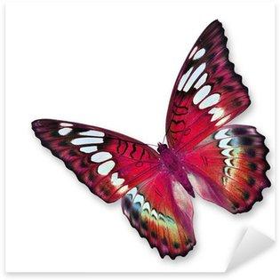 Sticker Pixerstick Papillon rouge