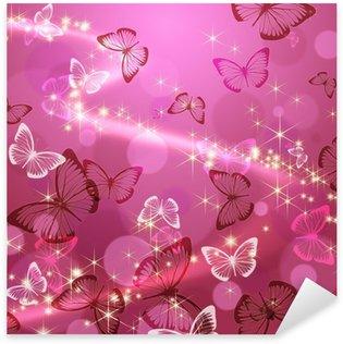 Sticker Pixerstick Papillon 々