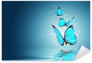 Sticker Pixerstick Papillon
