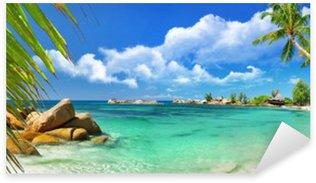 Sticker Pixerstick Paradis tropical - Seychelles