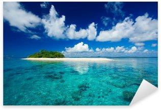 Sticker Pixerstick Paradis tropical vacances île