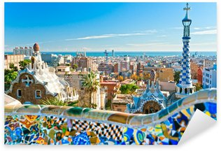 Sticker - Pixerstick Park Guell in Barcelona, Spain.