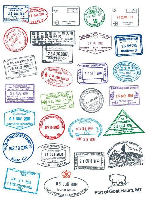 Sticker - Pixerstick Passport Stamps - Holidays