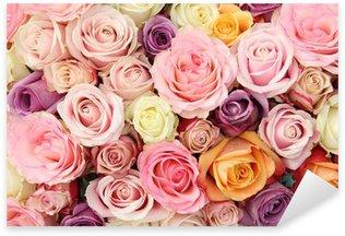 Pastel wedding roses Sticker - Pixerstick