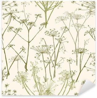 Pixerstick Sticker Patroon van de paraplu bloemen