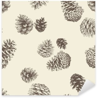 Sticker - Pixerstick pattern of the pinecones