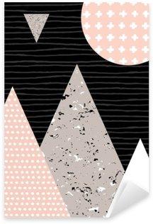 Sticker Pixerstick Paysage abstrait géométrique