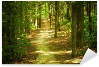 Sticker Pixerstick Paysage de forêt