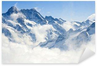 Sticker Pixerstick Paysage de montagne dans les Alpes