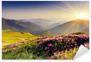 Sticker Pixerstick Paysage de montagne