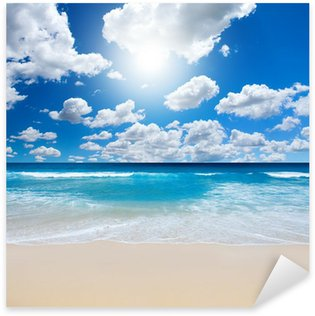 Sticker Pixerstick Paysage Gorgeous Beach