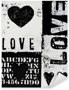 Sticker Pixerstick Peindre avec coeur