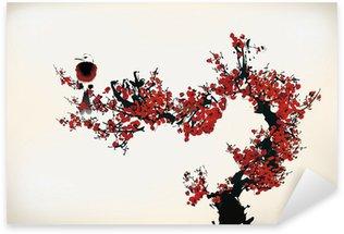 Sticker Pixerstick Peinture de fleurs