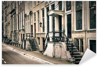 Pixerstick Sticker Perspectief van de oude amsterdam