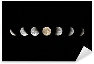 Sticker Pixerstick Phases complètes Lune Lunar Eclipse