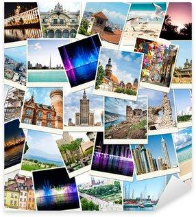 Sticker Pixerstick Photos de voyages dans différents pays