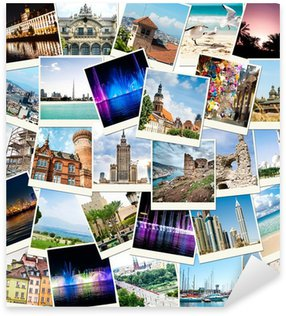 photos from travels to different countries Sticker - Pixerstick