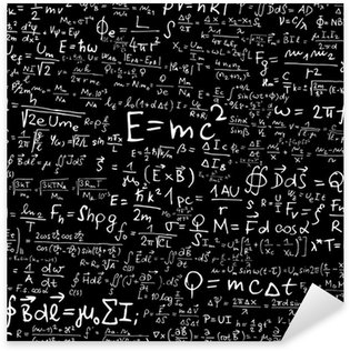 Physical formulas and equations Sticker - Pixerstick