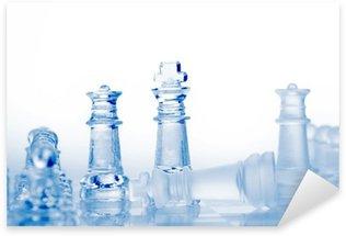 Sticker Pixerstick Pièces d'échecs en verre avec la lumière bleue