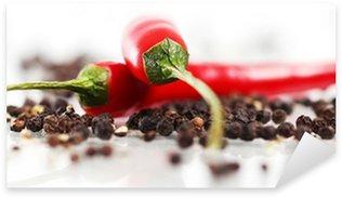 Sticker Pixerstick Piment rouge
