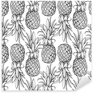 Pineapples seamless pattern Pixerstick Sticker
