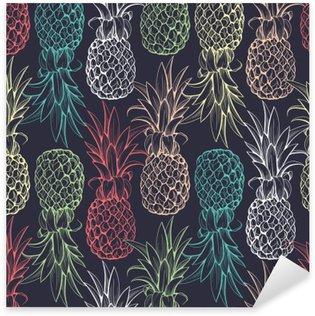 Pineapples seamless pattern Pixerstick Sticker